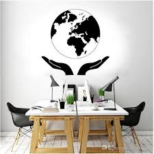 Guarding The Earth Nature Wall Sticker Globe Map World Map Decal Home Decor Living Room Office Studio Mural Creative Design Home Wall Decals Quotes Home Wall Decor Stickers From Joystickers 8 96 Dhgate Com