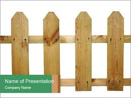 Small Wooden Fence Powerpoint Template Backgrounds Google Slides Id 0000015663 Smiletemplates Com