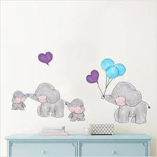 Cute Family Elephant Kids Room Wall Stickers Gallery Wallrus Free Worldwide Shipping