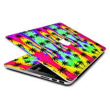 Skin Wrap For Macbook Pro 15 Inch Retina Rainbow Palm Tree Ebay