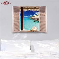 Wall Stickers Trompe L Oeil Arredo Locali Adesivo Per Muro Moderno Maldive Uk Beautiful Scenery Is In Front Of Your Eyes Wall Stickers Aliexpress