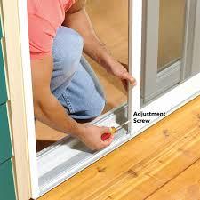 adjust a sticking patio screen door