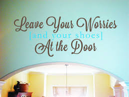 leave your worries and shoes wall decal shoe wall wall decals