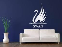 Swan Wall Decal Bird Decal Duck Goose Sticker Vinyl Wall Decal Etsy
