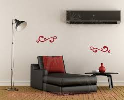 Swirl Decals Vinyl Art Wall Stickers Living Room Home Wall Decor 2pc