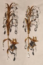gold metal wall sconce candle holders