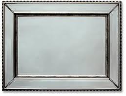 silver beaded bevel mirror mirrors