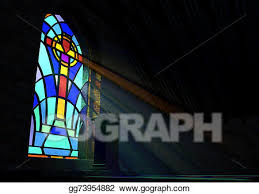 stained glass window church clip art