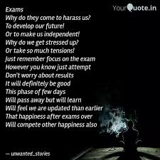 exams why do they come to quotes writings by rajvi shah