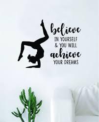 Gymnastics Believe In Yourself Quote Decal Sticker Bedroom Living Room Boop Decals