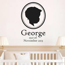 Personalised Wall Stickers Name Babys Birth Date Vinyl Wall Decal For Baby Room Nursery Wall Sticker For Bedroom Decoration Black Wall Stickers Black Wall Stickers For Bedrooms From Joystickers 11 03 Dhgate Com
