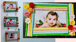 colour paper photo frames wall hanging