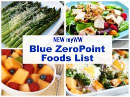 myww blue zeropoint foods list simple