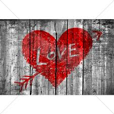 word love on grunge wooden wall