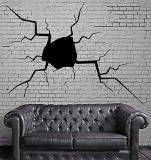 Crack In The Wall Split Hole Damage Decor Wall Art Mural Vinyl Art Sti Wallstickers4you