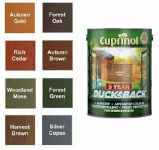 Cuprinol 5 Year Ducksback Has An Advanced Wax Enriched And Non Drip Formulation That Colours And Weatherproofs Sheds And Fences For Cuprinol Fence Stain Shed