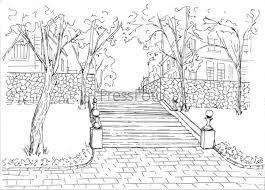 """Картинки по запросу """"природа рисунок карандашом осень"""""""
