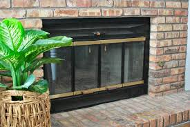 paint your fireplace brass trim for an