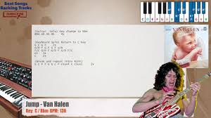 🎹 Jump - Van Halen Piano Backing Track with chords and lyrics - YouTube