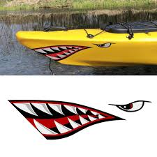 Shark Teeth Mouth Reflective Decals Sticker Fishing Boat Canoe Car Truck Kayak Graphics Accessories Car Stickers Aliexpress