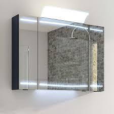 mirror cabinet led 3 door lighting