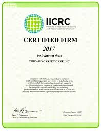 certified iicrc chicago carpet care