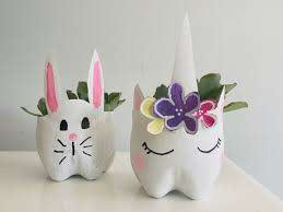 cute diy planters out of plastic