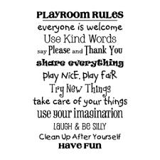 Playroom Rules Wall Quotes Decal Wallquotes Com