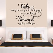 Wall Stickers Wake Up Every Morning Quote Removable Art Vinyl Mural Home Room Living Room Bedroom Romantic Decor Wallpaper Wish