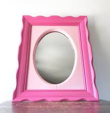 vintage pink wall mirror two tone