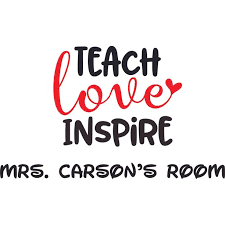 Teach Love Inspire Teacher Quotes School Wall Decal Custom Vinyl Wall Art Personalized Name Baby Girls