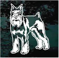 Detailed Schnauzer Giant Miniature Dog Graphic Decal Sticker Car Vinyl