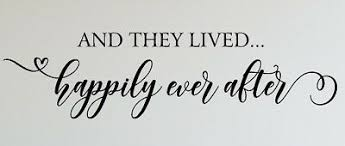 And They Lived Happily Ever After Decal Wall Words Vinyl Lettering Bedroom Decor Ebay