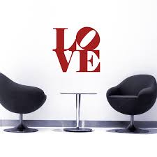 Love Inspired By Robert Indiana Quote Wall Decals