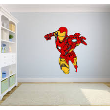 Iron Man The Avengers Cartoon Character Wall Decal Vinyl Sticker Art Home Decor Sticker Vinyl Mural