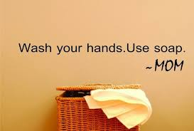 Design With Vinyl Wash Your Hands Use Soap Bathroom Rule Reminder Wall Decal Wayfair