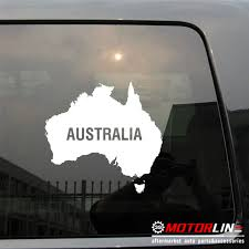 Car Truck Graphics Decals Flag Of Australia Australian Map Outline Car Decal Sticker Auto Parts And Vehicles