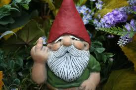 rude garden gnome