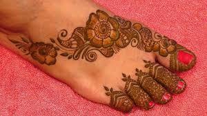 mehndi design for foot henna
