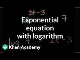 solving exponential equations using