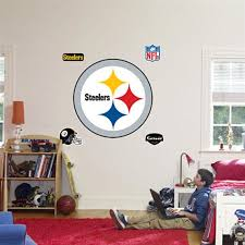 Fathead Pittsburgh Steelers Logo Real Big Mural Kids Wall Decor Store