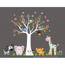 Nursery Wall Decals Baby Girls Nursery Decals Gilrs Room Nursery Decor Gilrs Themed Nursery Ideas Jungle Animal Wall Stickers