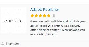 ads txt plugin for wordpress