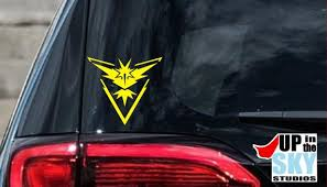 Team Instinct Logo Pokemon Go Vinyl Decal Bumper Sticker Etsy
