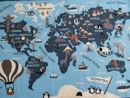 Little World Map Rugs Runners Mats For Kids Room 100 Polyester Buyelegant