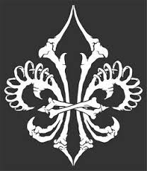 Skeleton Fleur De Lis Sticker Vinyl Decal Saints Lily Flower Boy Scouts 6 25x7 5 Ebay