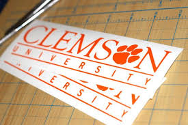 Clemson University Sticker For A Car Or Desired Application Each Order Comes In A Pack Of 2 In Case Your First Att Sticker Set Vinyl Decals Clemson University