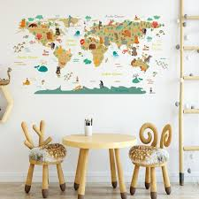 Hot Promo 474820 Cartoon World Map Sports Wall Stickers For Kids Room Living Room Travel Stickers Home Decoration Wall Decals Mural Wallpaper Pvc Cicig Co