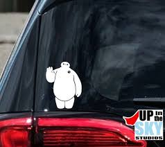 Baymax Vinyl Decal Bumper Sticker Big Hero 6 Disney Etsy