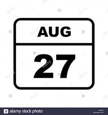 Il 27 agosto la data in un singolo giorno calendario Foto stock - Alamy